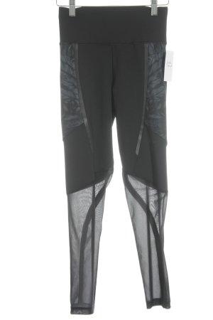 Adidas Leggings schwarz-graublau abstrakter Druck sportlicher Stil