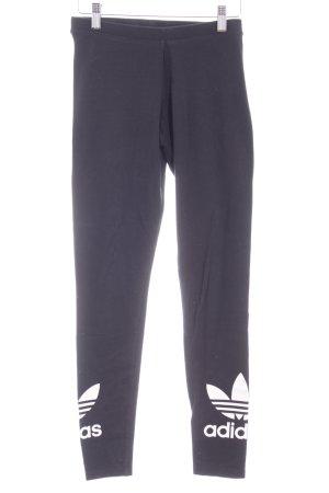 Adidas Leggings schwarz platzierter Druck sportlicher Stil