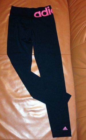 Adidas Leggins schwarz rosa Gr. 164/ XS
