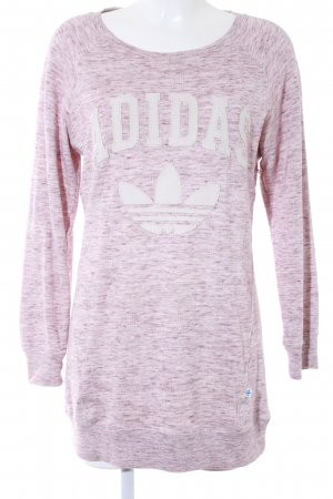 Adidas Long Sweater cream-blackberry-red flecked casual look