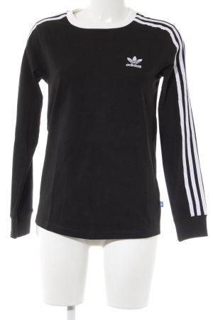 Adidas Camicia lunga nero-bianco caratteri stampati stile atletico