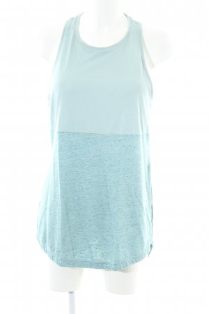 Adidas Long Top turquoise flecked casual look