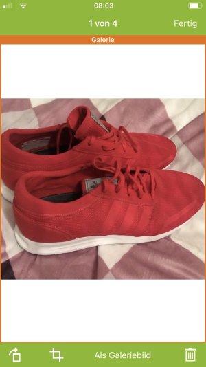 Adidas Sneaker stringata rosso-bianco