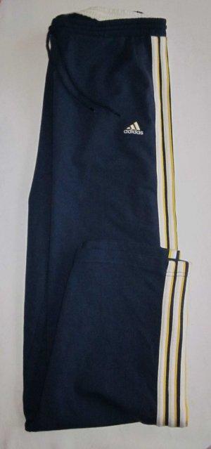 ADIDAS Marken Jogginghose Sporthose Hose dunkelblau legerer Schnitt 38 40 M L