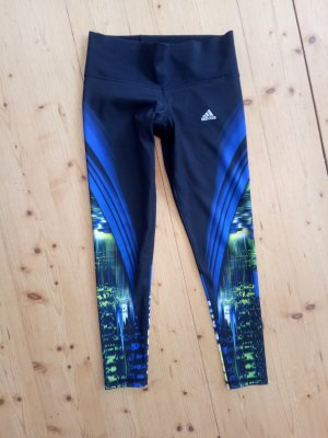 Adidas Medium Compression Tights Techfit Climacool Illum Schwarz Blau Jogginghose Running Laufhose S M 36 38