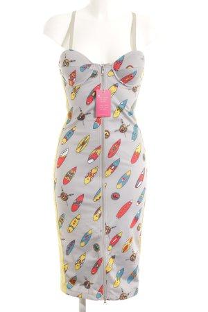 Adidas Midi-jurk lichtgrijs prints met een thema extravagante stijl