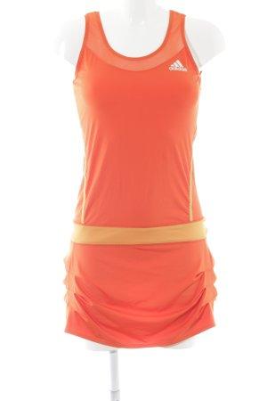 Adidas Minikleid neonorange-gelb Colourblocking sportlicher Stil