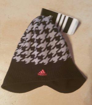 Adidas Chapeau en tricot noir-argenté acrylique