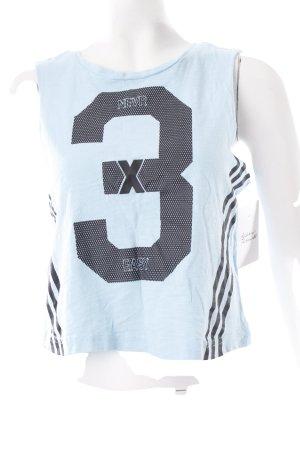 Adidas NEO Cropped Top babyblau-schwarz Schriftzug gedruckt sportlicher Stil