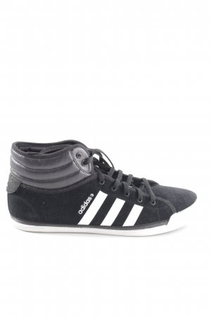 Adidas NEO High top sneaker zwart-wit quilten patroon casual uitstraling