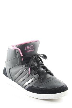 Adidas NEO Zapatillas altas negro-rosa look casual
