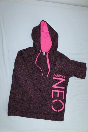 Adidas NEO Hoodie Pink / Schwarz meliert