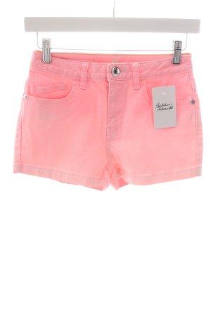 Adidas NEO Pantalón corto de tela vaquera rosa estilo extravagante