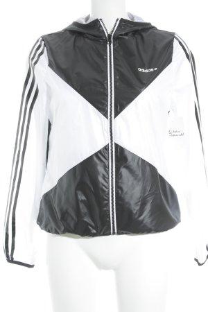 Adidas NEO Kapuzenjacke schwarz-weiß Zackenmuster schlichter Stil