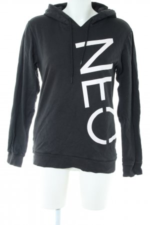 Adidas NEO Hooded Sweater black-white casual look