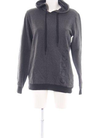 Adidas NEO Kapuzensweatshirt hellgrau-schwarz Allover-Druck Casual-Look