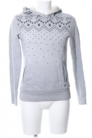 Adidas NEO Hooded Sweatshirt light grey-black graphic pattern casual look