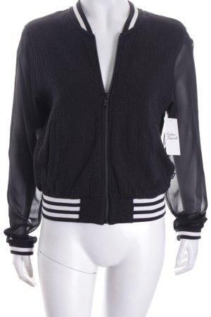 Adidas NEO Kurzjacke schwarz-weiß Streifenmuster sportlicher Stil