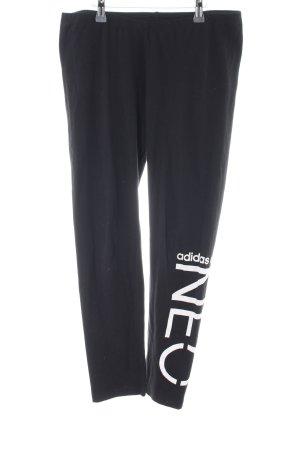 Adidas NEO Leggings schwarz Schriftzug gedruckt schlichter Stil