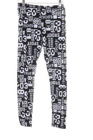 Adidas NEO Leggings schwarz-weiß Schriftzug gedruckt sportlicher Stil