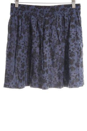 Adidas NEO Minirock dunkelblau-schwarz Blumenmuster Casual-Look