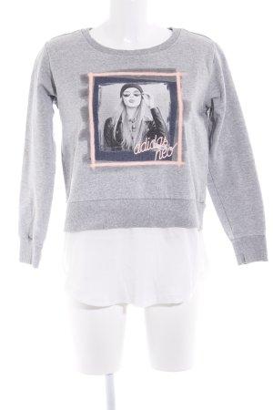 Adidas NEO Kraagloze sweater prints met een thema atletische stijl
