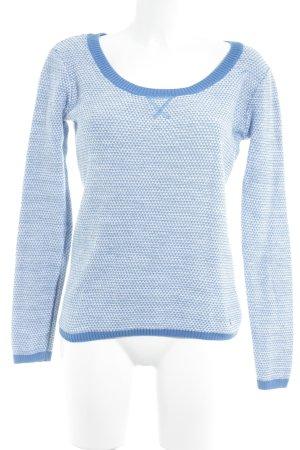 Adidas NEO Kraagloze sweater neon blauw-wolwit gestreept patroon