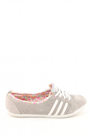 Adidas NEO Lace Shoes light grey-white striped pattern casual look
