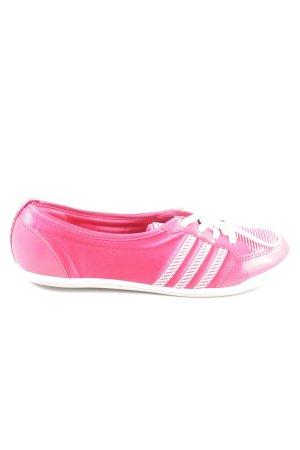 Adidas NEO Schnürschuhe pink-weiß Casual-Look
