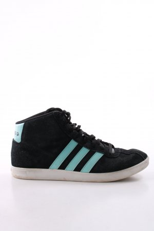Adidas NEO Zapatilla brogue turquesa-negro estilo deportivo