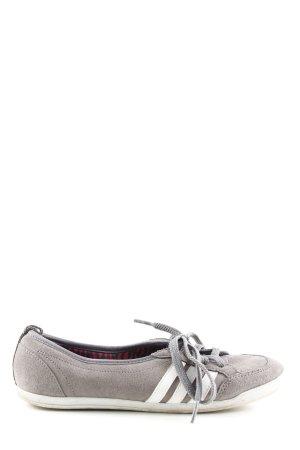 Adidas NEO Basket à lacet gris clair-blanc style athlétique