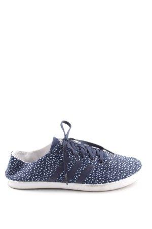 Adidas NEO Basket à lacet bleu-blanc imprimé allover style décontracté