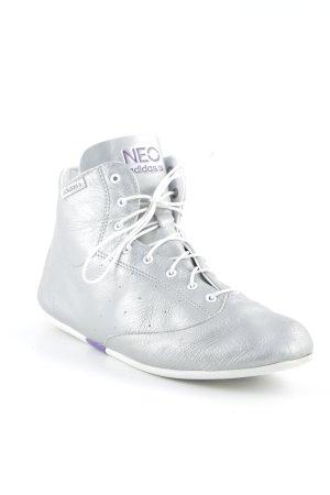 Adidas NEO Schnürsneaker silberfarben-weiß sportlicher Stil