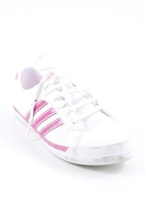 Adidas NEO Schnürsneaker weiß-pink Streifenmuster sportlicher Stil