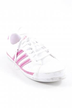 Adidas NEO Sneaker stringata bianco-rosa motivo a righe stile atletico