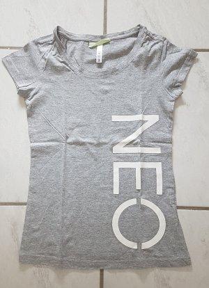Adidas NEO T-shirt grigio chiaro-bianco