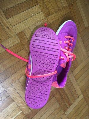 Adidas NEO Basket à lacet orange fluo-violet
