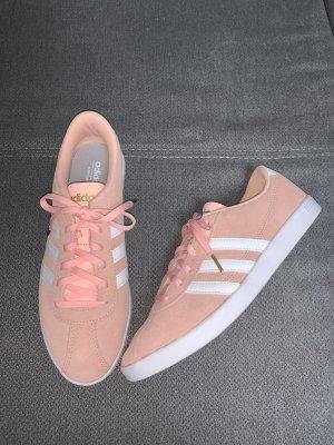 Adidas NEO Basket à lacet blanc-rose
