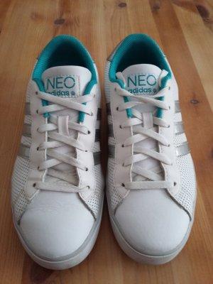 Adidas neo Sneaker weiß-silber-türkis
