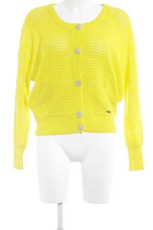 Adidas NEO Giacca in maglia giallo stile casual