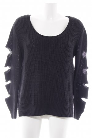 Adidas NEO Maglione lavorato a maglia nero stile casual