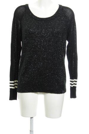 Adidas NEO Jersey de punto negro Patrón de tejido look casual