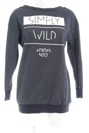 Adidas NEO Sweat Shirt flecked casual look