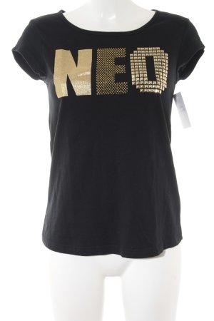 Adidas NEO T-Shirt schwarz-goldfarben Casual-Look