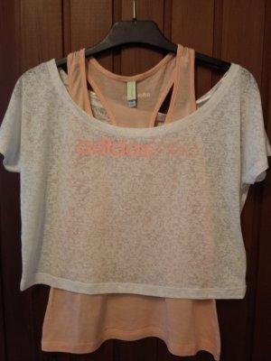 Adidas Neo T-Shirt weiß apricot