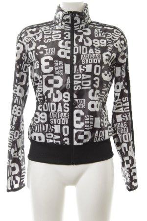 Adidas NEO Übergangsjacke schwarz-weiß Allover-Druck Casual-Look