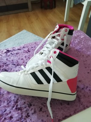 Adidas NEO High top sneaker wit-roze
