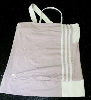 Adidas Oberteil T-Shirt Shirt Tanktop Top lila weiß 34 XS wie neu
