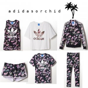 Adidas Orchid Set Gr.38 NEU! SOLD OUT Top/Shorts/Leggings RAR Blogger