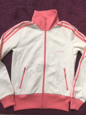 Adidas Originals Sports Jacket natural white-neon pink